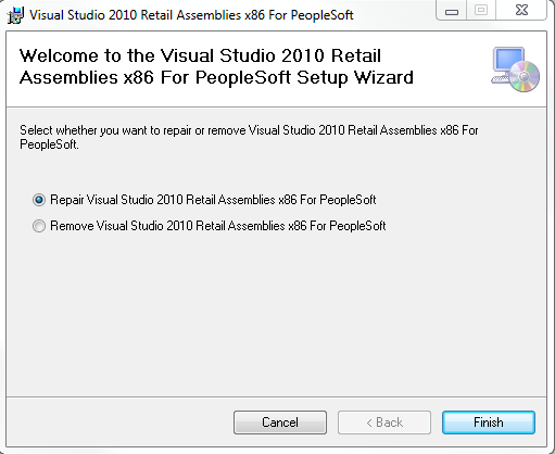 Visual Studio 2010 for PeopleSoft