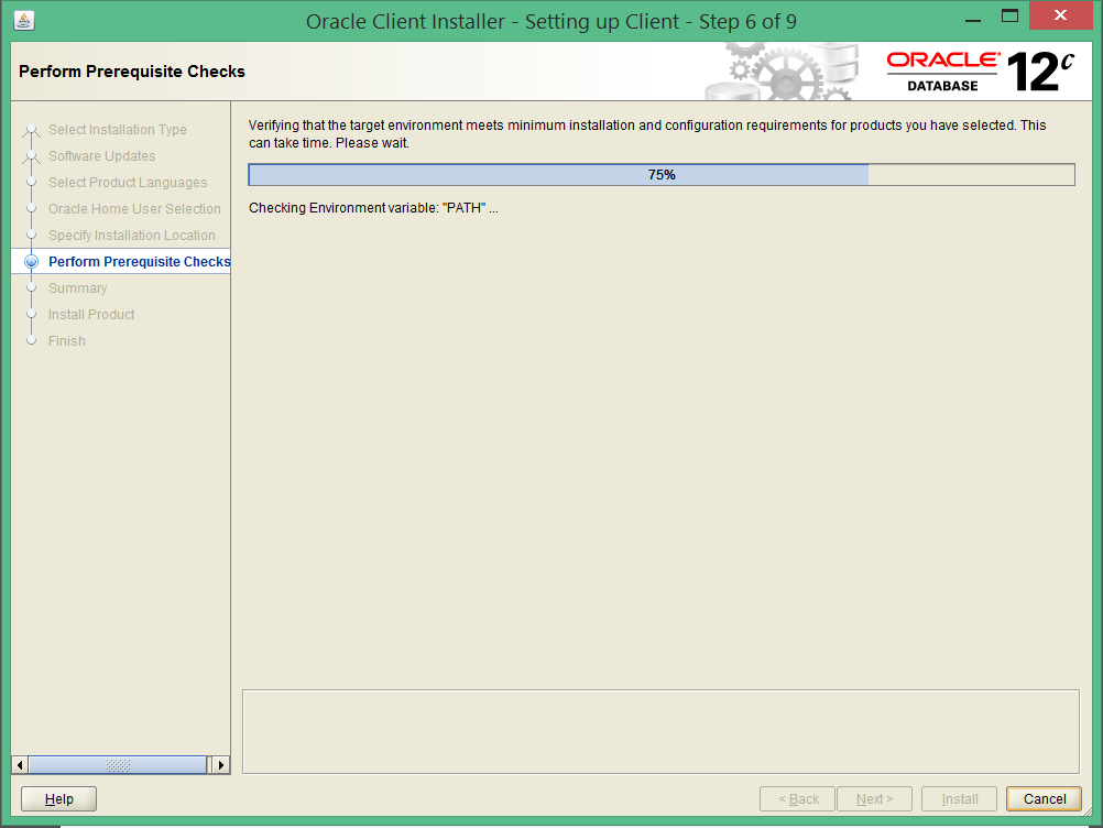 install oracle 12c 32 bit client on windows 8 6