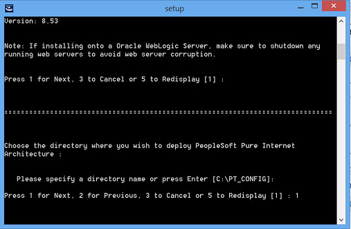 install peopesoft pia in console mode