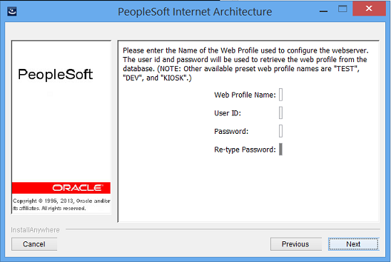 peoplesoft pia install problem