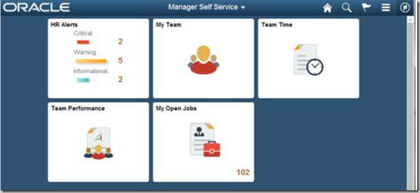 PeopleSoft Tiles