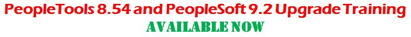 peopletools 8.54 and peoplesoft 9.2 training