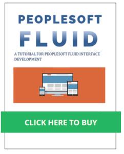Peoplesoft Fluid sidebar