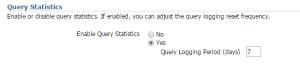 ses query statistics