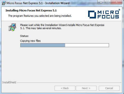 install micro focus net express 5.1 wp 11 on windows