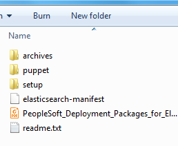 extract elasticsearch 2.3.2 on windows