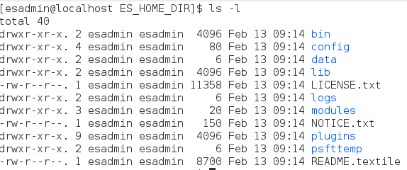 extracted ES_HOME_DIR on Linux
