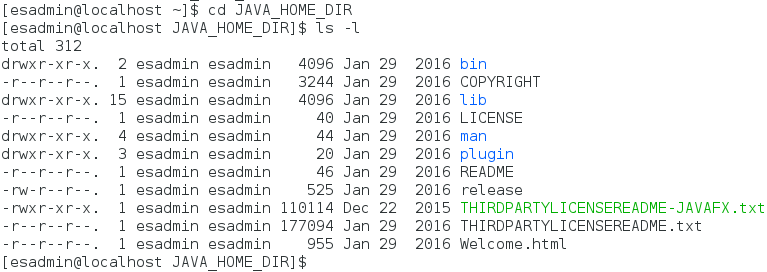 extracted JAVA_HOME_DIR on Linux