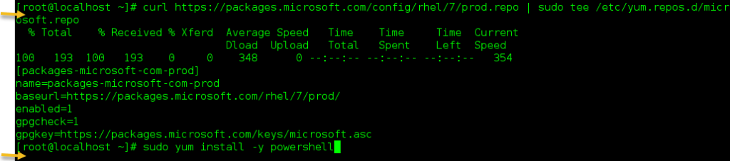 install powershell on oracle linux, centos and RHEL