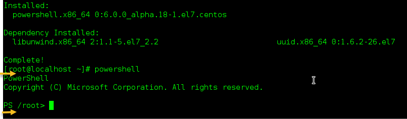 run powershell on oracle linux, centos and RHEL