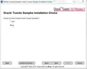 Oracle Tuxedo Samples Installation