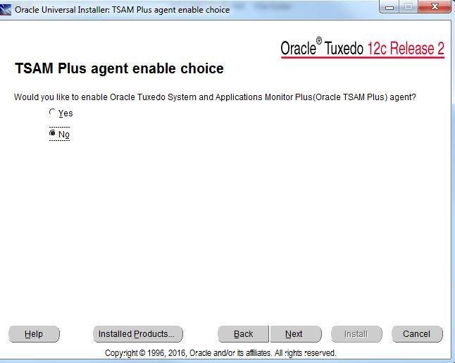 Tuxedo 12cR2 TSAM Plus install