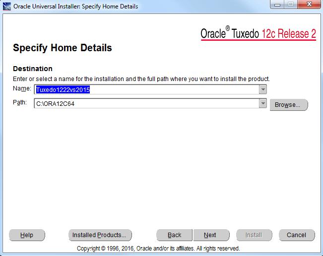 install oracle tuxedo 12.2.2.0.0