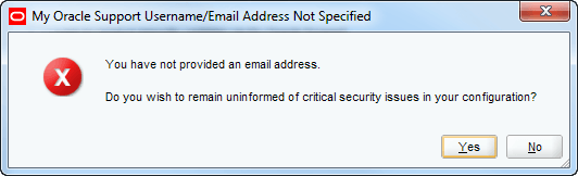 skip email address for oracle weblogic warning
