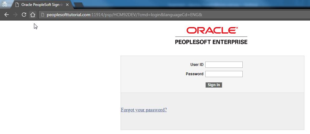 default peoplesoft login page