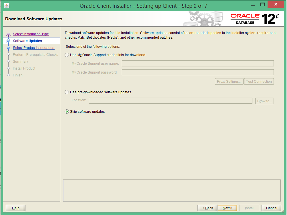 install oracle 12c 32 bit client on windows 8 2