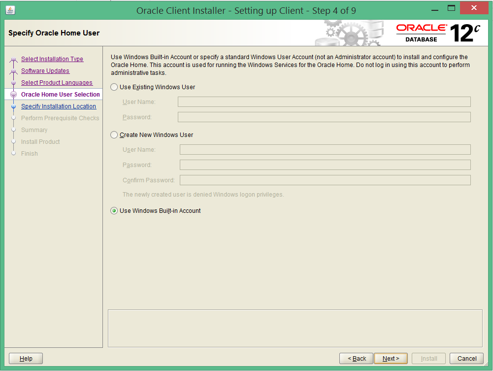 install oracle 12c 32 bit client on windows 8 4