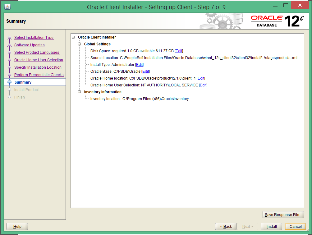 install oracle 12c 32 bit client on windows 8 7