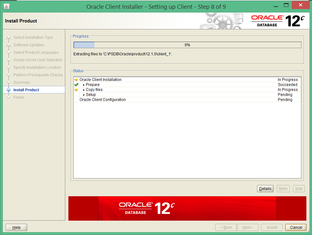 install oracle 12c 32 bit client on windows 8 8
