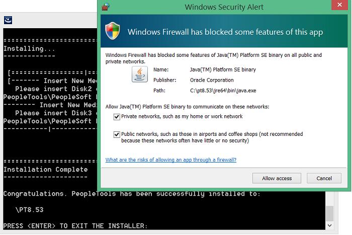 install peopletools 8.53 in windows 8 - 10