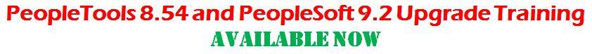 peopletools 8.54 and peoplesoft 9.2 training