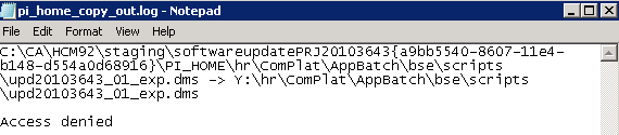 Access Denied Error while applying PRP patches to PeopleSoft
