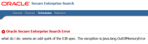 what do i do: seems an odd quirk of the EJB spec. The exception is:java.lang.OutOfMemoryError