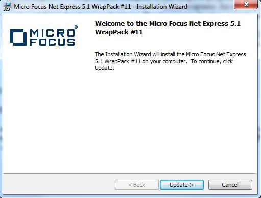 install micro focus net express 5.1 wp 11 on windows