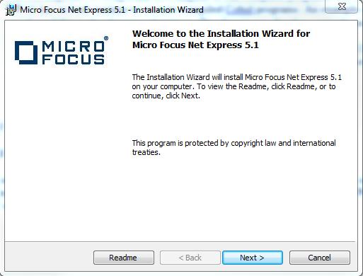 install micro focus net express 5.1 wp 11