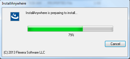 InstallAnywhere is preparing to install