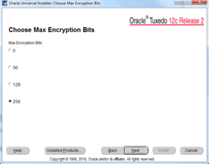 choose max excryption bits