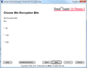 choose min excryption bits