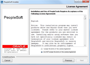 license agreement for peopletools 8.56