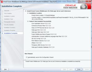 oracle weblogic installation success