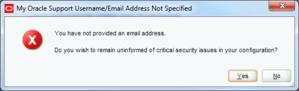 skip email address for oracle weblogic warning