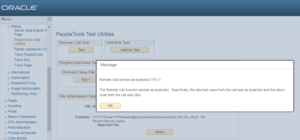 peoplesoft remote call test