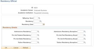 Adding Residency-details