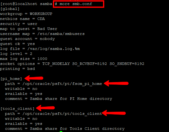 How to create a permanent share for Oracle Linux VM | PeopleSoft
